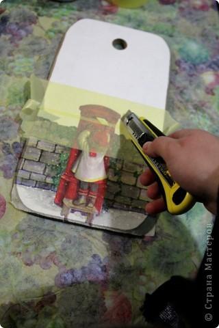 Декор предметов, Мастер-класс Декупаж: как соединить 2 салфетки м\к Салфетки Новый год. Фото 4