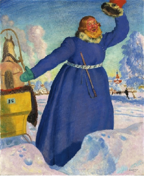 «Извозчик». 1923г. Борис Кустодиев