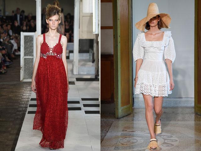 Ажурные модные платья весна-лето 2017