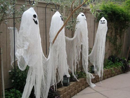 Приведение на Хэллоуин своими руками