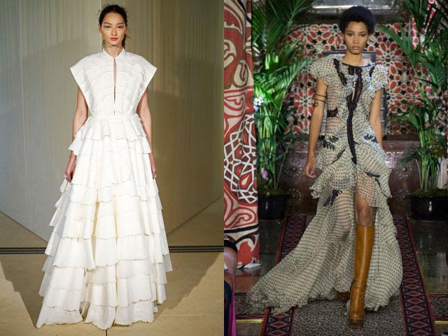 Модные платья с оборками весна-лето 2017