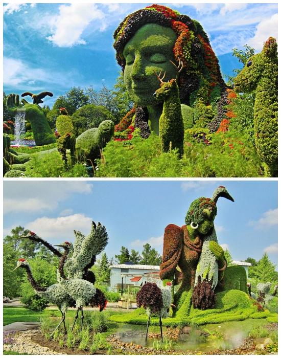 Живые скульптуры украшают всю территорию Монреальского ботанического сада. | Фото: planetofhotels.com.