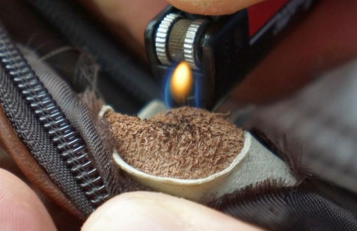 Поднесите к материалу зажженную спичку или зажигалку и оцените результат / Фото: static.wixstatic.com
