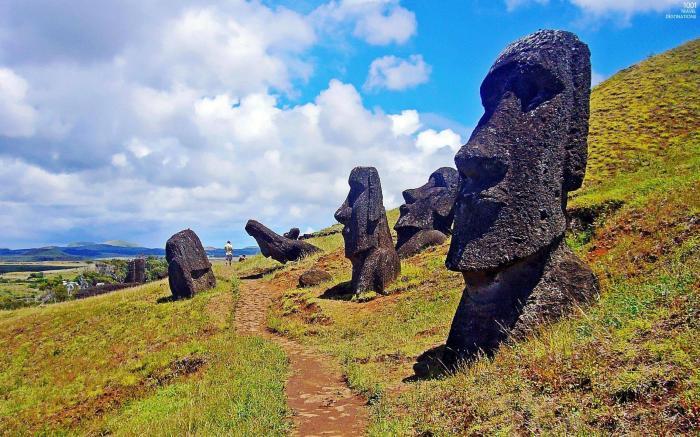 Таинственные истуканы с острова Пасхи. / Фото: www.jinnanyang.com