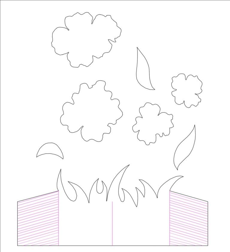 Картинки, открытка для мамы с шаблонами цветов