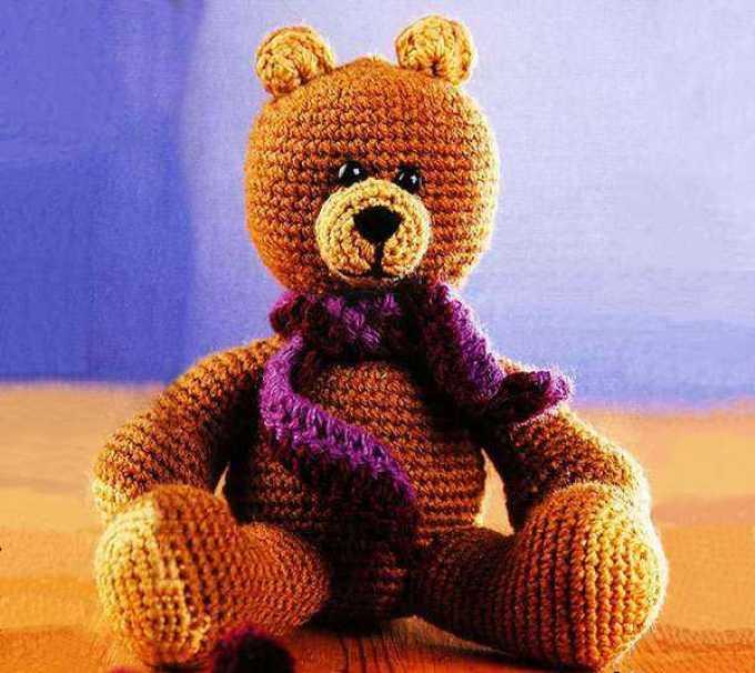 Тедди с шарфом