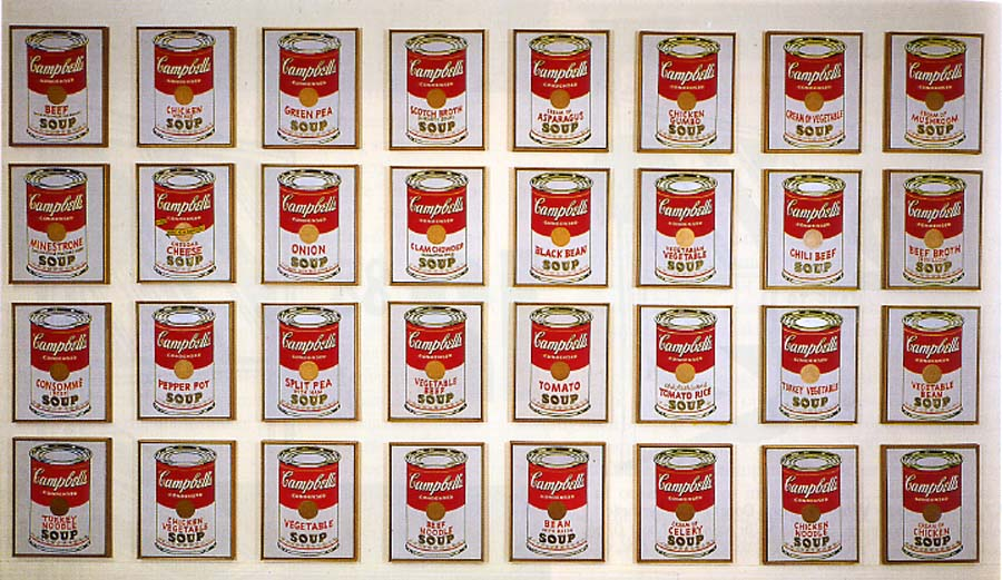 an analysis of the campbell soup can painting by andy warhol