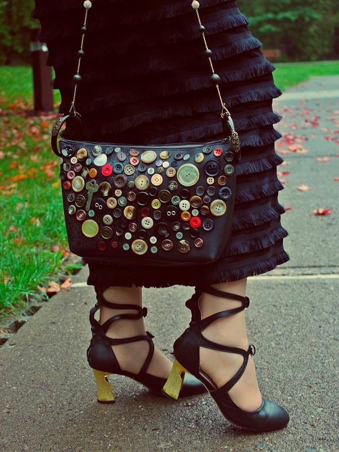 ac1f8bb80843 Пуговичный декор сумки своими руками