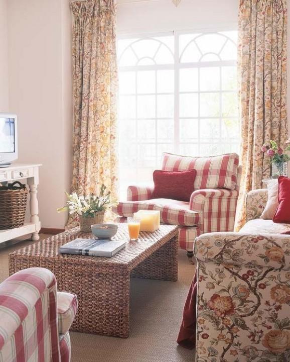 Растительные мотивы могут украшать мебель, текстиль