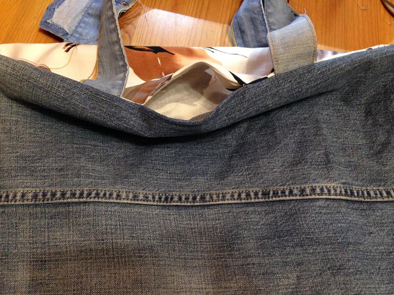 пляжная сумка из старых джинсов выкройка :