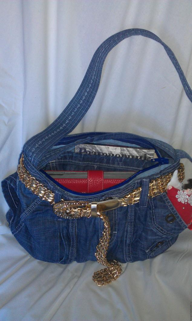Модная сумка из старых джинсов, фото № 38