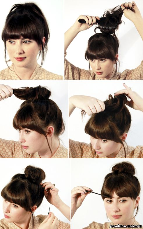 Высокая прическа на средние волосы своими руками фото пошагово