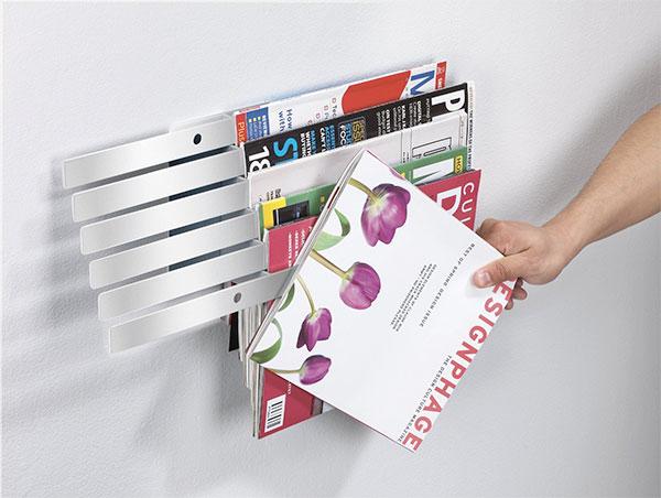 Декоративная полка для хранения журналов
