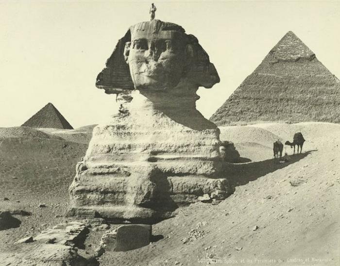 Очистка Сфинкса от песка была закончена к 1925 году