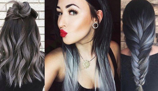 Окрашивание в серый цвет волос