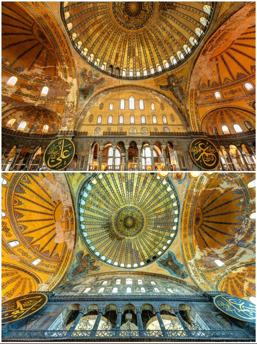 Купол Собора Святой Софии взметнулся над землей на 56,6 м (Стамбул, Турция). | Фото: philologist.livejournal.com.