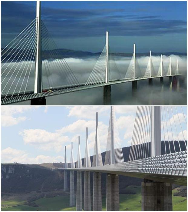 Millau Viaduct спроектирован архитектором сэром Норманом Фостером и инженером-строителем Мишелем Вирлоге.