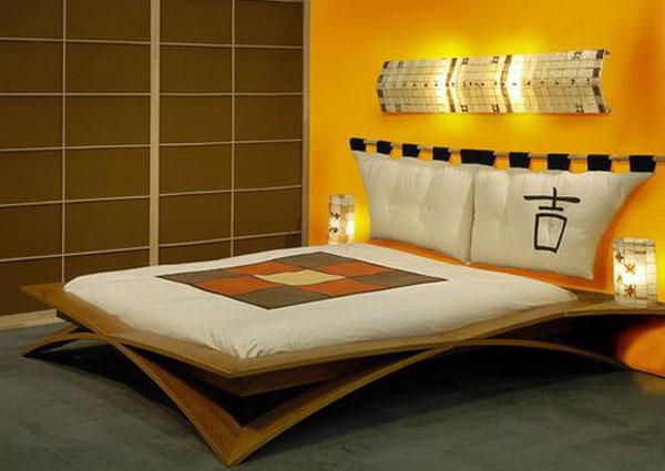 Элегантная спальня в жёлтых тонах