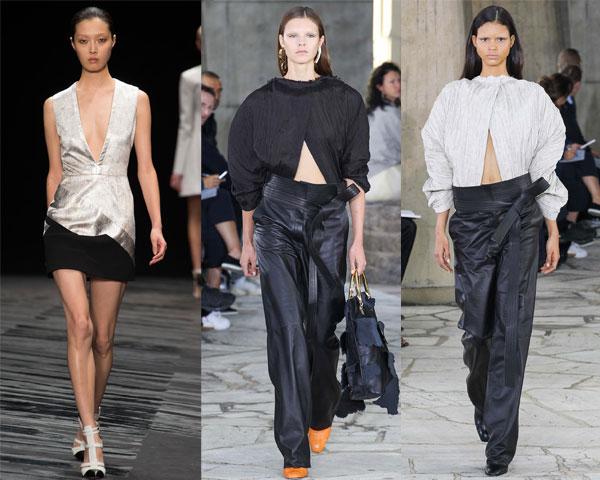 Модные блузки весна-лето 2015 с V-вырезом