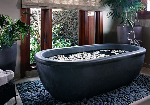 Интерьер ванный в чёрно-белых тонах от Willman Interiors / Gina Willman