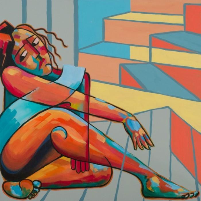 Девушка в углу. Автор: Eddie Schrieffer.