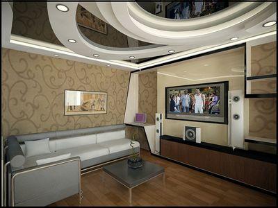 гипсокартонные многоуровневые потолки с неоновой подсветкой