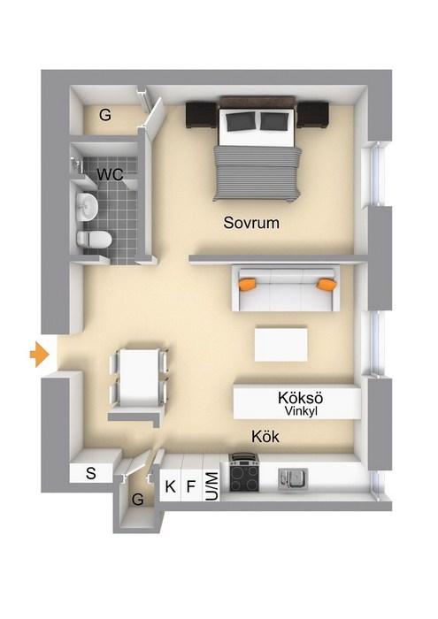 Планировка квартиры 50 кв.м.