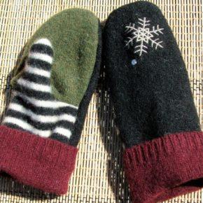 рукавички из свитеров своими руками
