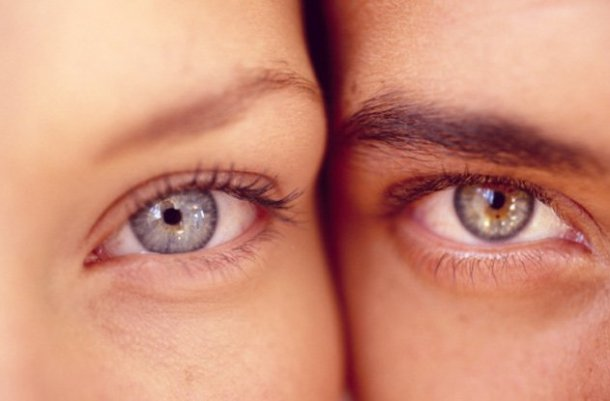 Глаз мужчины и женщины