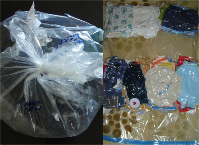 Целлофановые и вакуумные пакеты для одежды.