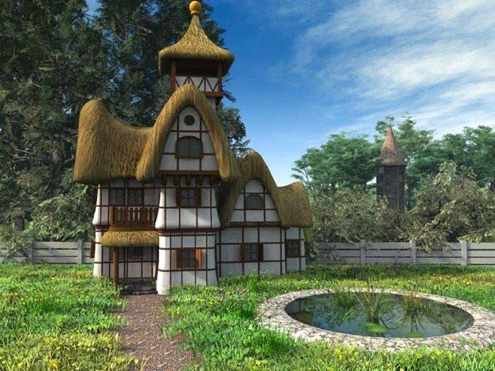 Сказочная избушка, созданная в графстве Девоншир.