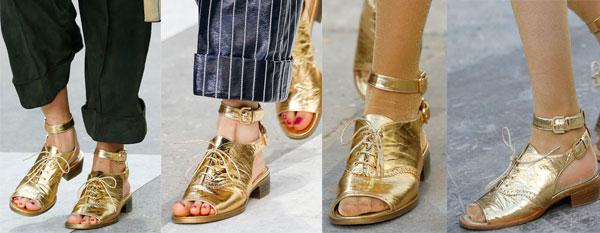 Модные босоножки от Chanel весна-лето 2015