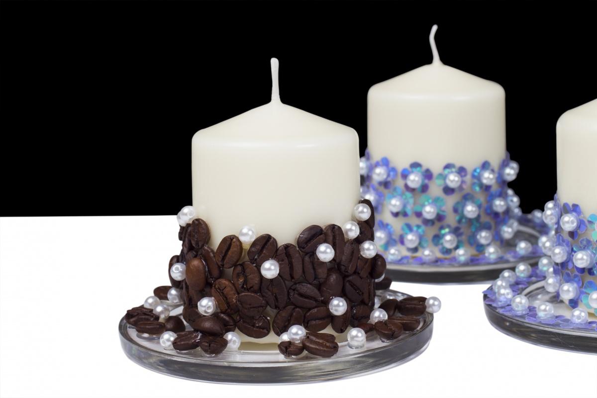Как украсить свечи своими руками фото 523