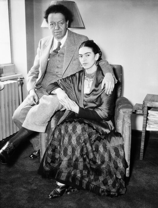 Фрида Кало и Диего Ривера. / Фото: www.pinimg.com