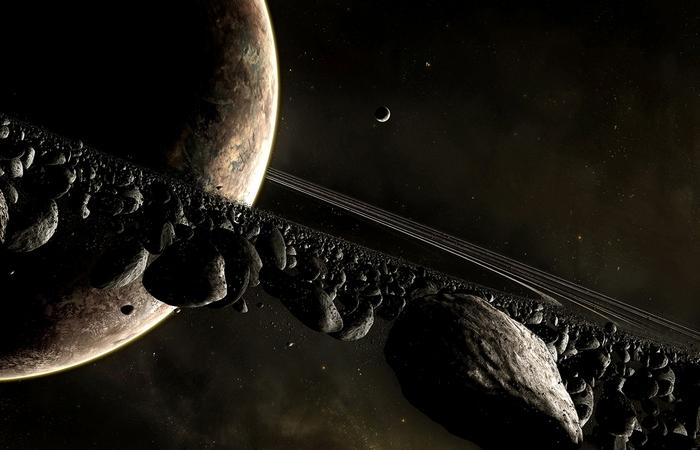 Поверхностная гравитация на Сатурне.