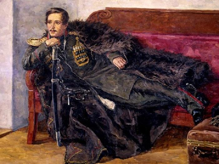 Портрет М. Ю. Лермонтова. Автор: П. Кончаловский.