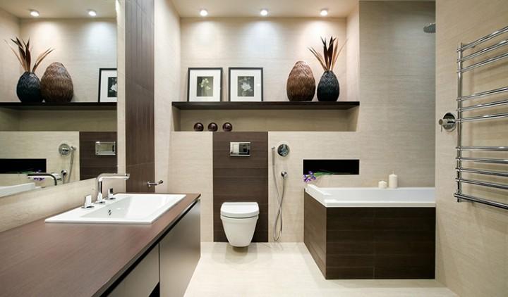<p>Автор проекта: Domestic Studio. Фотограф: Сергей Ананьев.</p> <p>Глубокие ниши в интерьере ванной комнаты не только функциональны, но и эстетчны. Они дают дополнительный объем, что всегда хорошо.</p>