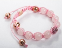 Розовый браслет шамбала
