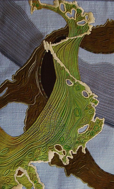 Seaweed-patterned textile by Penny Berens: