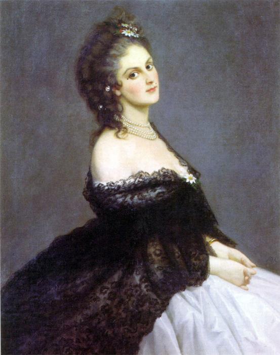 Микеле Гордиджиани. Портрет графини ди Кастильоне, 1862 год