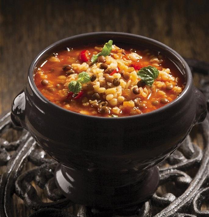 Суп с булгуром и фасолью