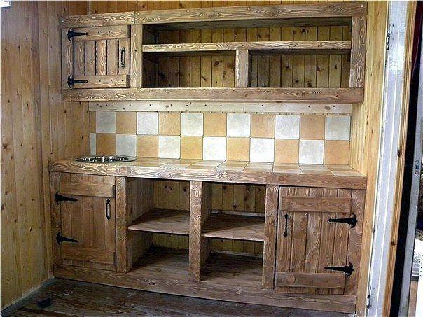 Кухонный гарнитур своими руками для дачи