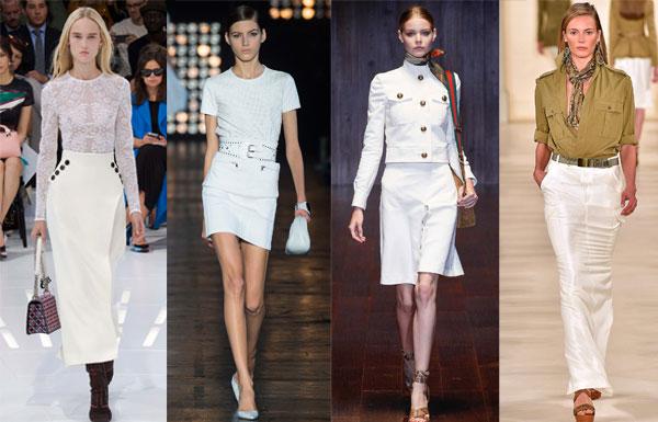 Белая юбка – самый популярный тренд весны-лета 2015