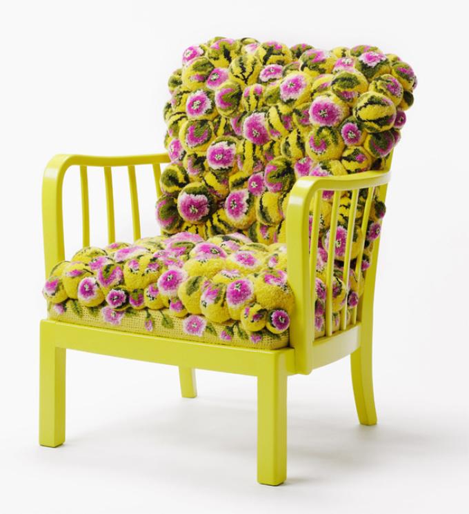Декоративный коврик для стула