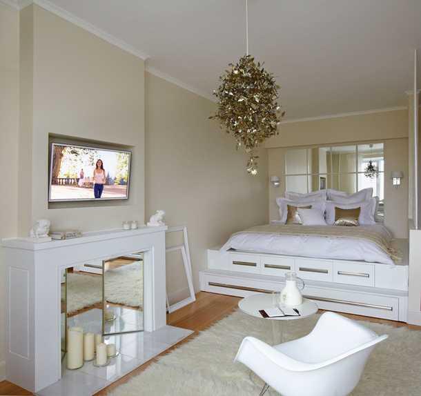 Зонирование гостиной с помощью ковров