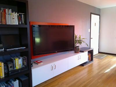 оформление стены с телевизором (1)