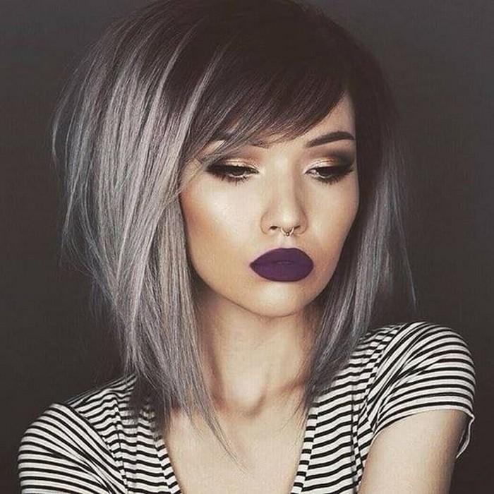 Градуированное каре делает волосы визуально более объёмными.