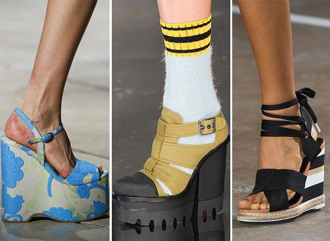 Обувь на танкетке - тенденции весна-лето 2015