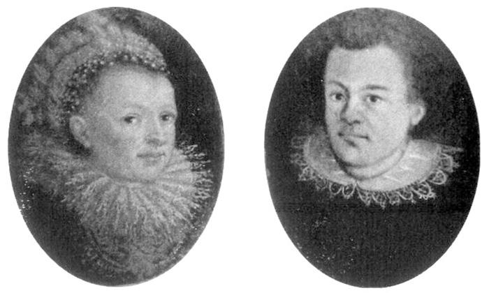 Иоганн Кеплер с первой женой.