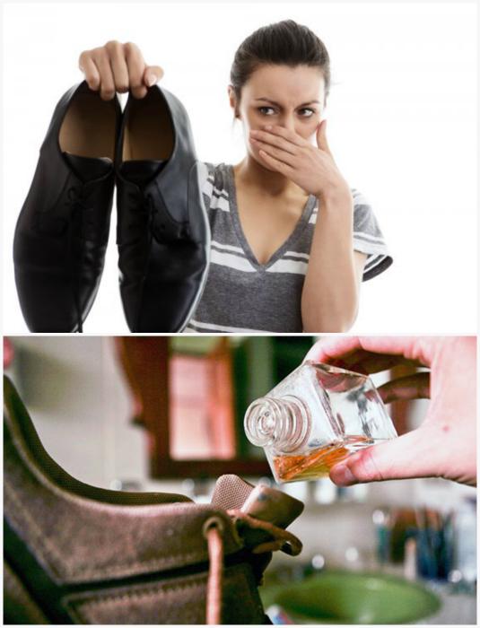 Избавится от неприятного запаха обуви.